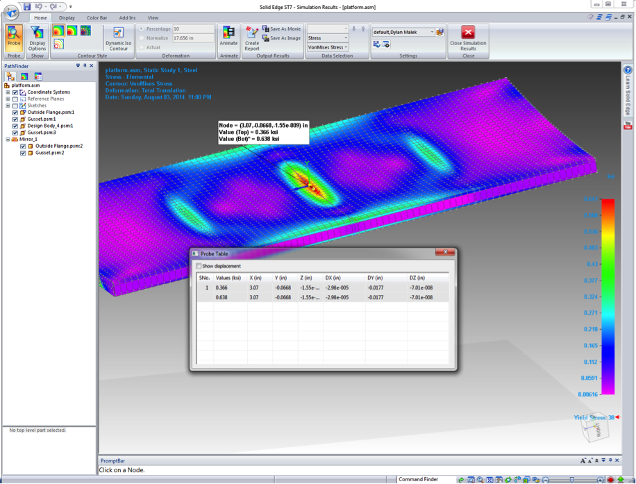 Solid edge st7 assembly simulation swoosh technologies for Finite elemente analyse