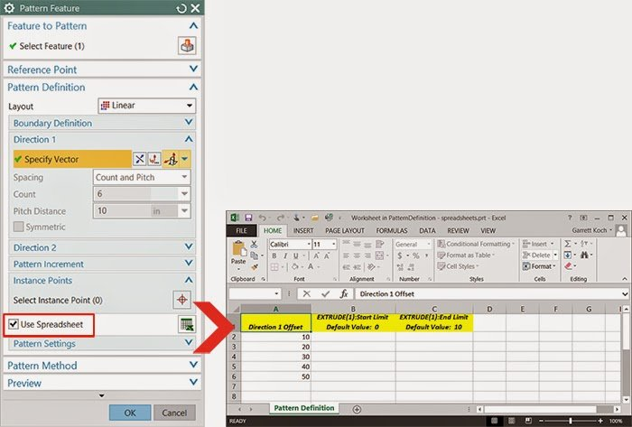 Working with Spreadsheet Data in NX 9